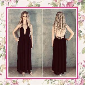 🌺VICTORIA SECRET MAXI DRESS LONG HALTER BOHO CHIC